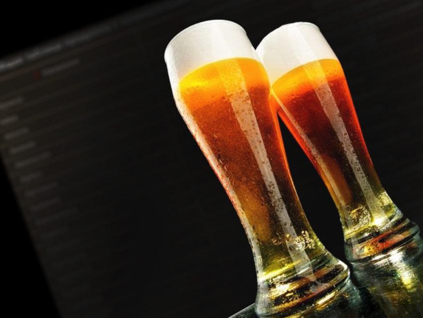 Фотография стаканов пива