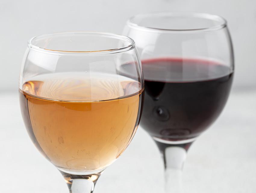 Розовое и красное вино
