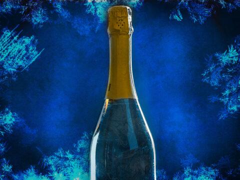 Шампанское замёрзло