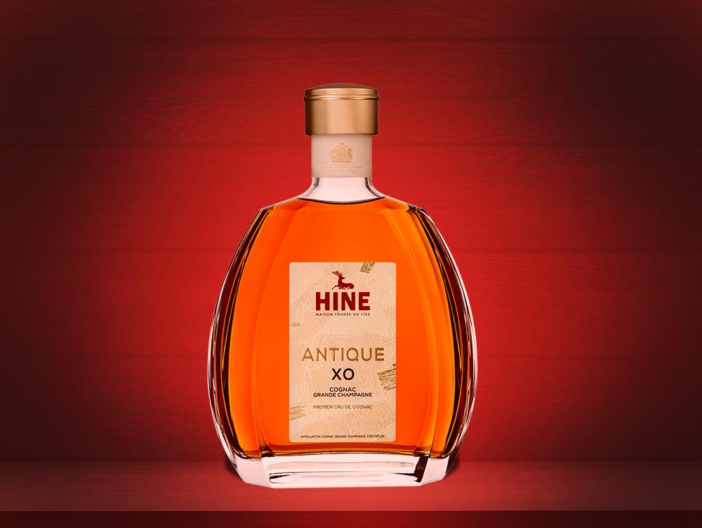Бутылка французского коньяка Hine XO